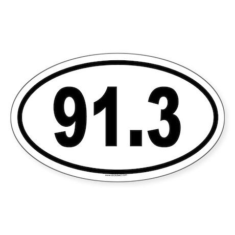 91.3 Oval Sticker