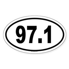 97.1 Oval Decal