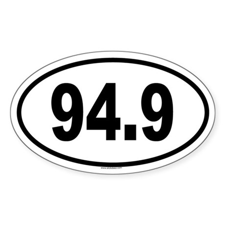 94.9 Oval Sticker