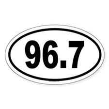 96.7 Oval Sticker (50 pk)