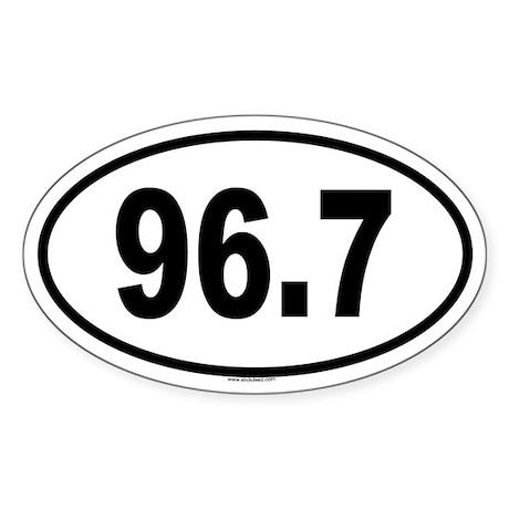 96.7 Oval Sticker