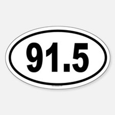 91.5 Oval Decal