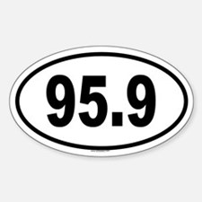 95.9 Oval Decal