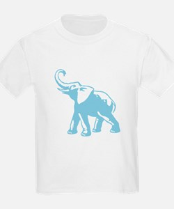 Elephant Trumpeting (Light Blue) T-Shirt