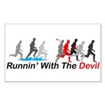 Runnin' With the Devil Rectangle Sticker