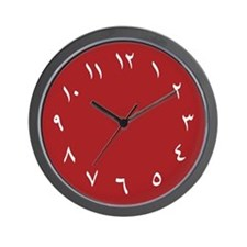 Iranian Wall Clock (Red)