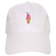 Kawaii Cherry Ice Cream Baseball Cap
