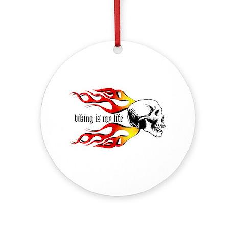 Biking Ornament (Round)