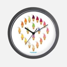 Kawaii Fruity Ice Cream Wall Clock