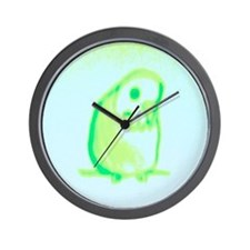 Spring Green Budgie Wall Clock