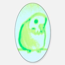 Spring Green Budgie Oval Decal