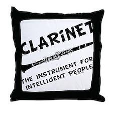 Clarinet Genius Throw Pillow