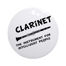 Clarinet Genius Ornament (Round)