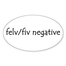 felv/fiv negative Oval Decal
