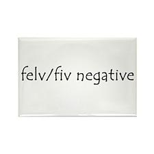 felv/fiv negative Rectangle Magnet