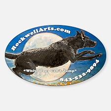Black Labrador Retriever Oval Decal