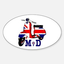 Mods Scooter Sticker (Oval)