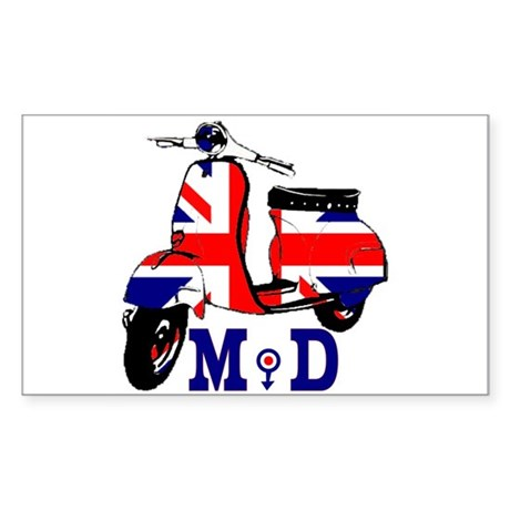 Mods Scooter Sticker (Rectangle)