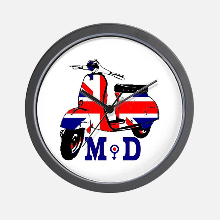 Mods Scooter Wall Clock