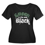 Green is the new Black Women's Plus Size Scoop Nec
