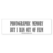 Memory Film Bumper Bumper Sticker