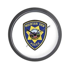 Mountain View Police Wall Clock