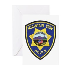 Mountain View Police Greeting Cards (Pk of 10)