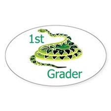 1st Grader Oval Decal