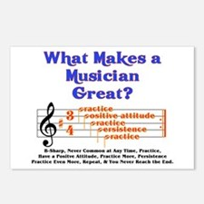 What Makes a Great Musician? Postcards (Package of