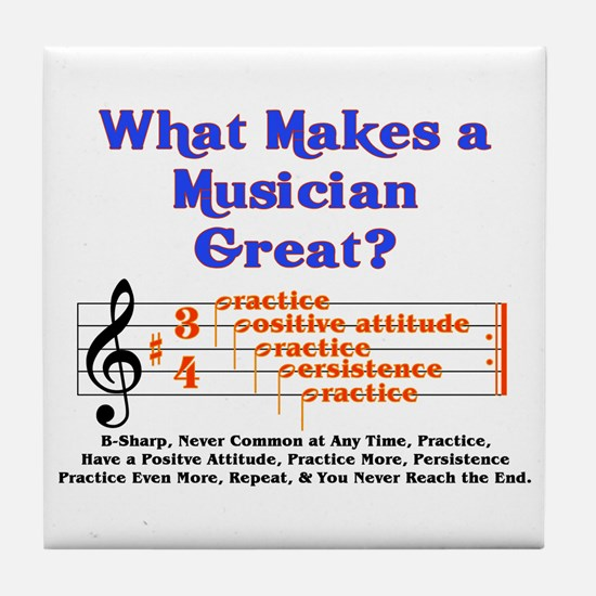 What Makes a Great Musician? Tile Coaster