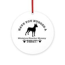 Miniature Pinscher mommy Ornament (Round)