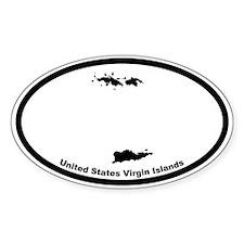 US Virgin Islands Outline Oval Decal
