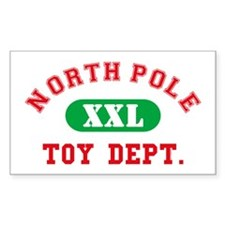 North Pole Toy Dept. Rectangle Decal