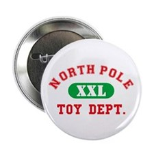 "North Pole Toy Dept. 2.25"" Button"