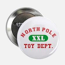 "North Pole Toy Dept. 2.25"" Button"
