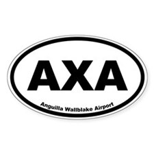 Anguilla Wallblake Airport Oval Decal