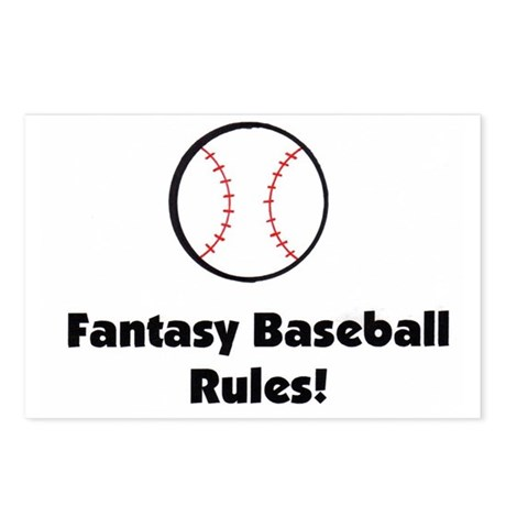 fantasy baseball rules postcards  package of 8  by