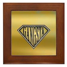 SuperGangsta(b/g) Framed Tile