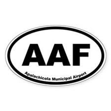 Apalachicola Municipal Airport Oval Decal