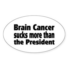 Brain Cancer Oval Decal