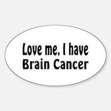Brain Cancer Oval Decal