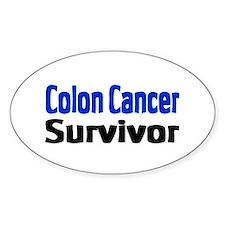 Colon Cancer Oval Decal