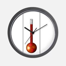 Global Warming Thermometer Wall Clock
