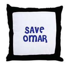 Save Omar Throw Pillow