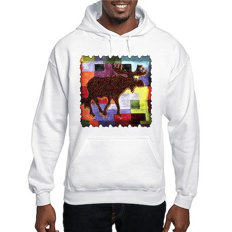 Colorful Moose Hooded Sweatshirt