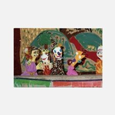 Puppet Show Rectangle Magnet