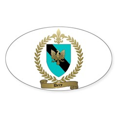DERY Family Crest Oval Decal