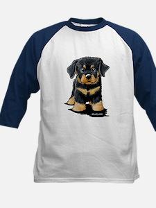 Rottweiler Puppy Kids Baseball Jersey