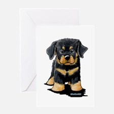Rottweiler Puppy Greeting Card