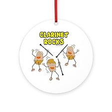 Clarinet Rocks Ornament (Round)
